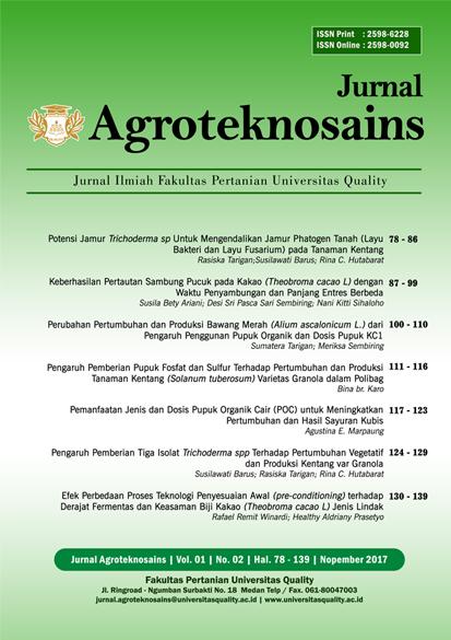 Jurnal Agroteknosains Vol. 01 No. 02 Nopember 2017